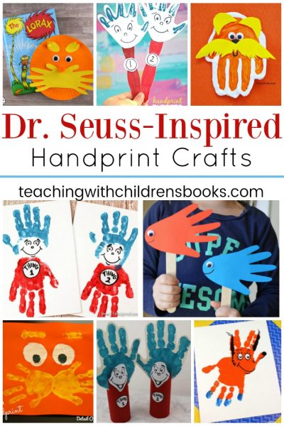 Dr Seuss Handprint Crafts