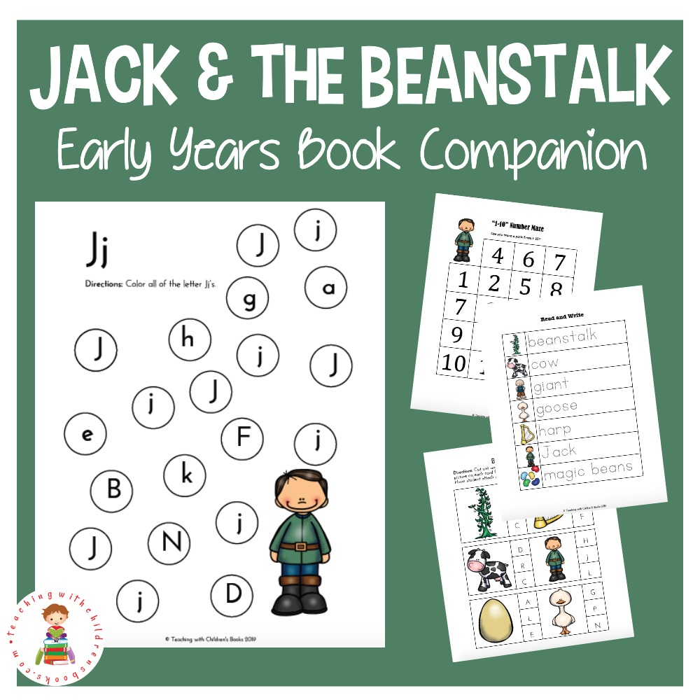image about Jack and the Beanstalk Story Printable titled Absolutely free Printable Jack and the Beanstalk Routines for Small children