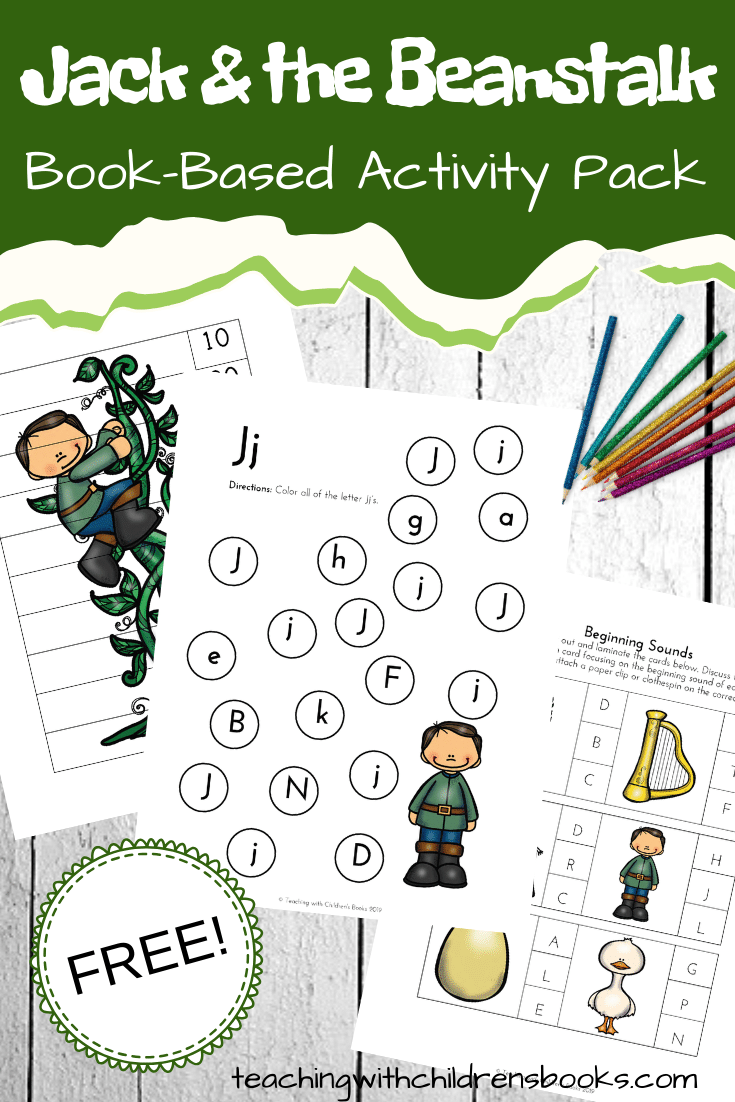 These Jack and the Beanstalk activities are perfect for spring! Add this book (and these activities) to your garden, seed, and plant studies.