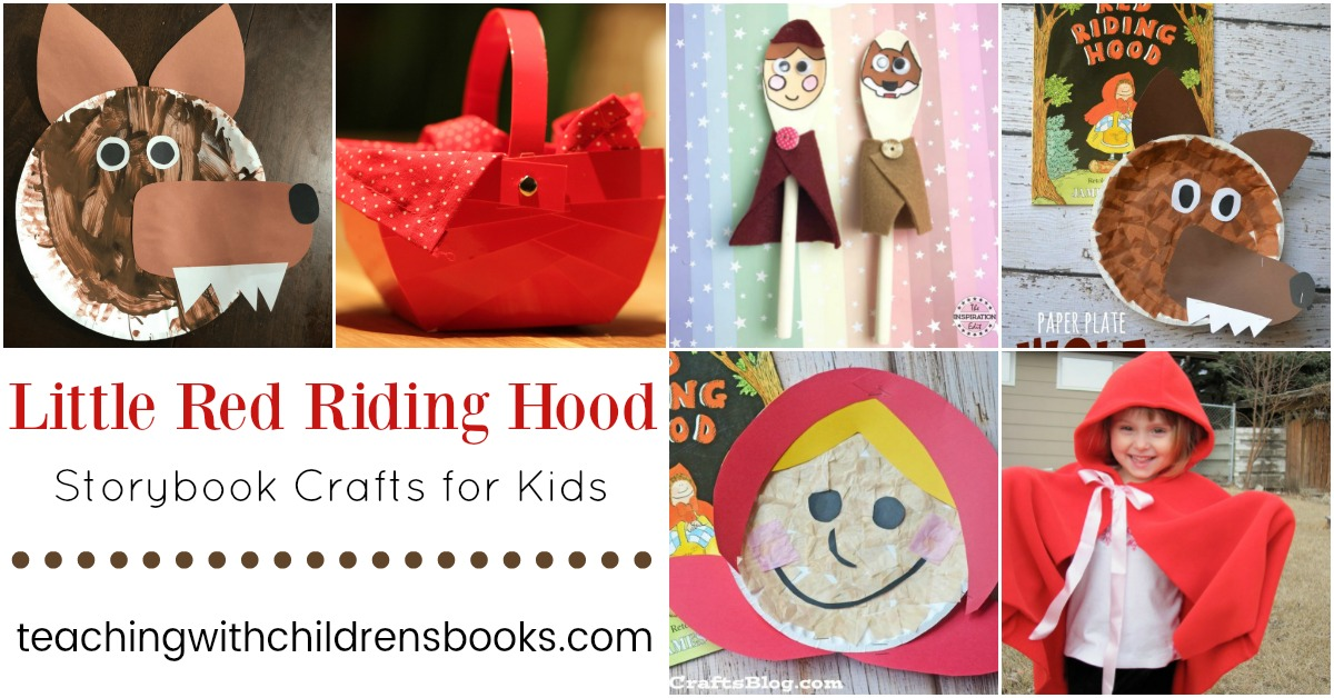 If your children love the story of Red Riding Hood, they are going to love bringing the story to life with these adorable Little Red Riding Hood crafts!