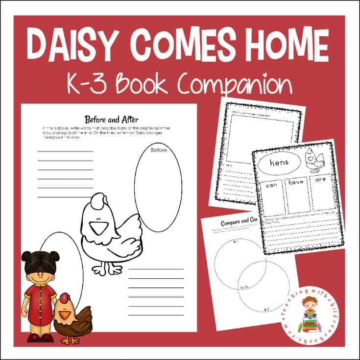 Download this Daisy Comes Home book companion designed to help your students dive deep into story parts, summarize the story, and more!