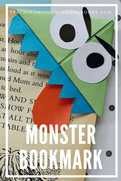 Here is a fantastic DIY monster bookmark craft for kids. This tutorial is complete with pictures, instructions, and a free printable template.