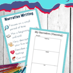 Using picture books to teach narrative writing is so much fun! This book list and free worksheets will help kids learn to write personal stories.