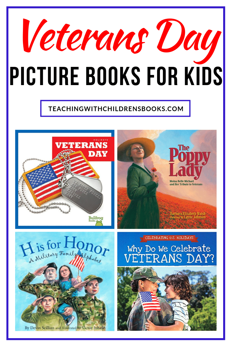 Check out this collection of children's books about Veterans Day! They are perfect for reading aloud (or independently) in preschool through middle school.