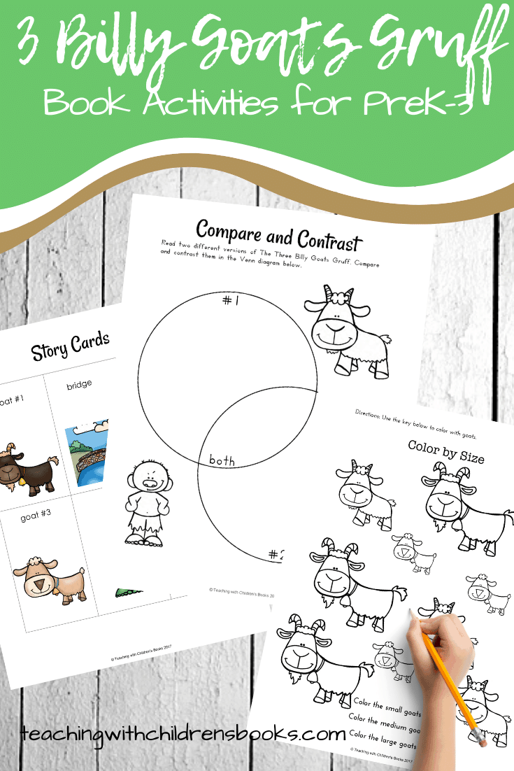 Don't miss these printable Three Billy Goats Gruff activities! They focus on colors, alphabet, and math with a fun farm theme. Perfect for your book-based lessons.