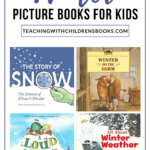 If you love filling your bookshelves with seasonal books, don't miss this collection of childrens books about winter. Winter-themed fiction and nonfiction picture books!