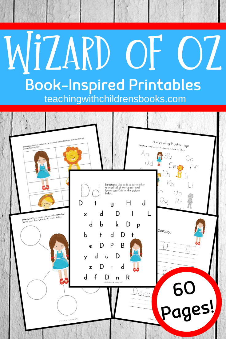 Preschoolers and kindergarteners will love these Wizard of Oz activities. Discover printables and hands-on fun for little ones!