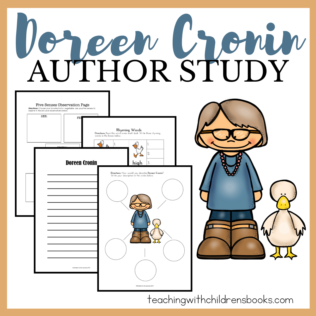 ThisDoreen Cronin author study is full of hands-on activities kids in grades K-2 will enjoy! The free thirty-page printable helps bring the books to life.