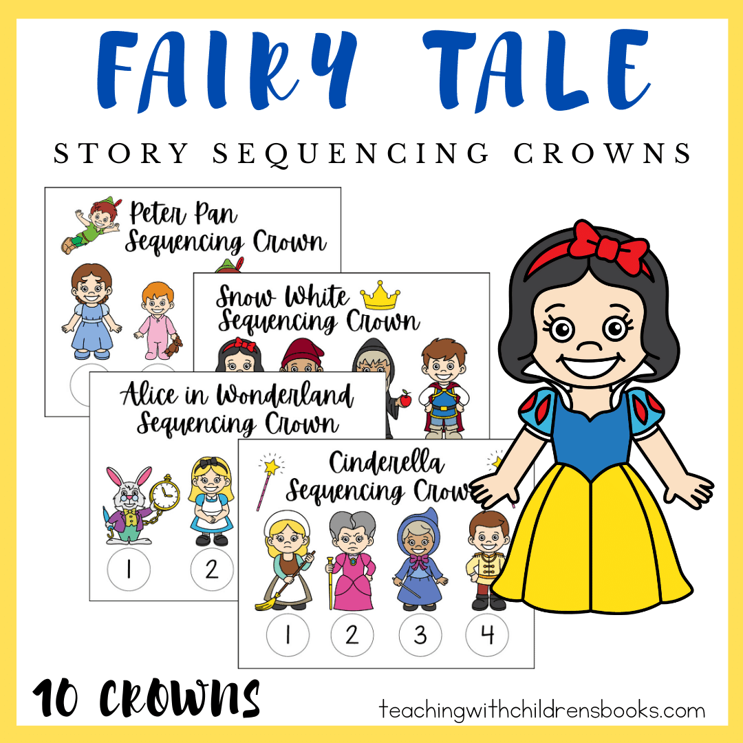 Printable Fairy Tales Story Sequencing Crowns For Kids