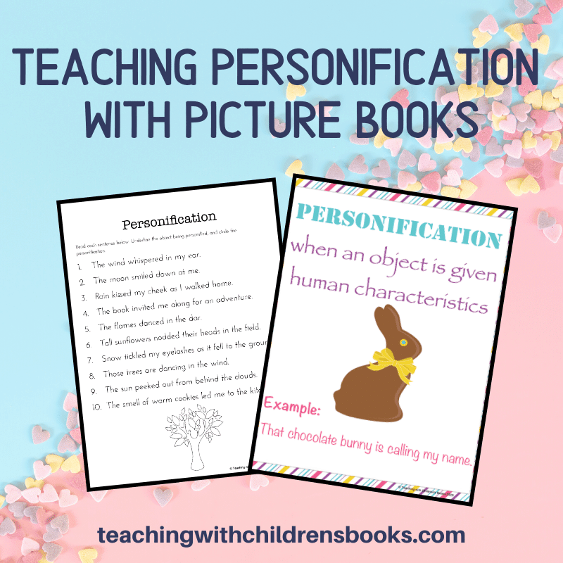 Are you teaching personification? It's so much fun to do with this list of picture books and set of printables. Perfect for early elementary students.