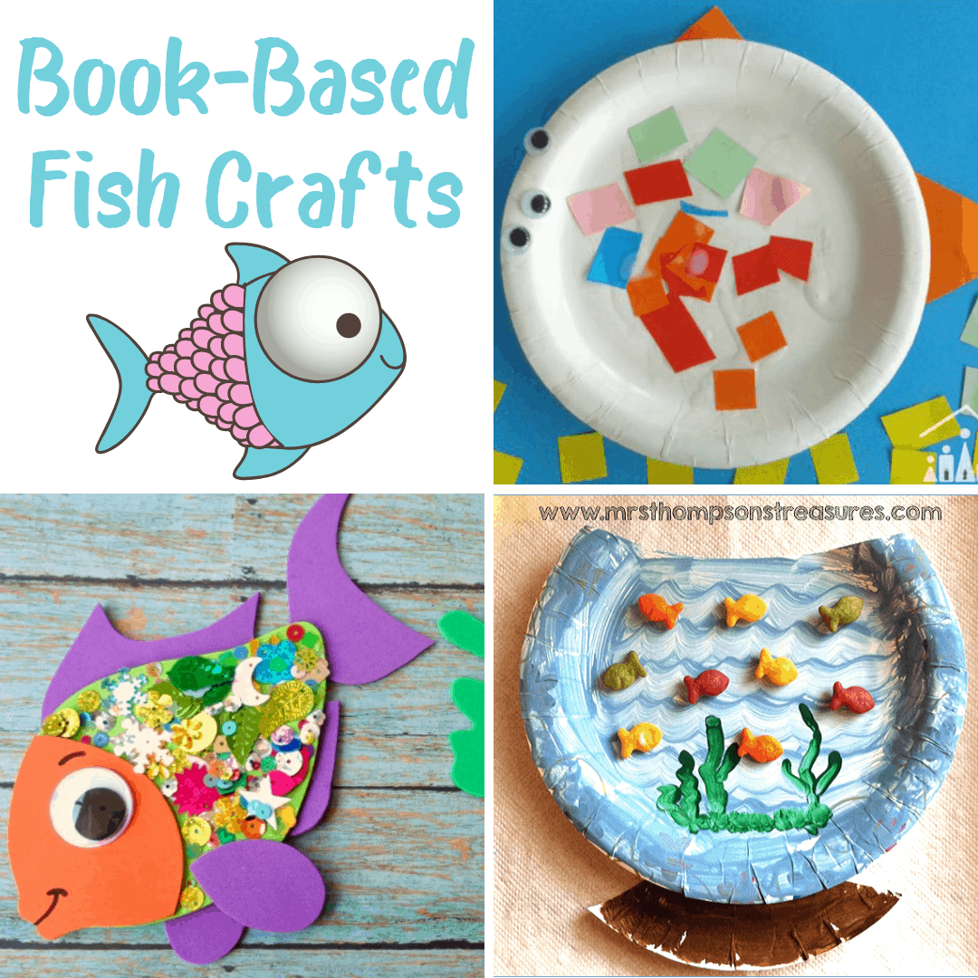 Don't miss this amazing collection of book-based fish crafts for kids featuring ten different fish-themed picture books! Perfect for all ages!