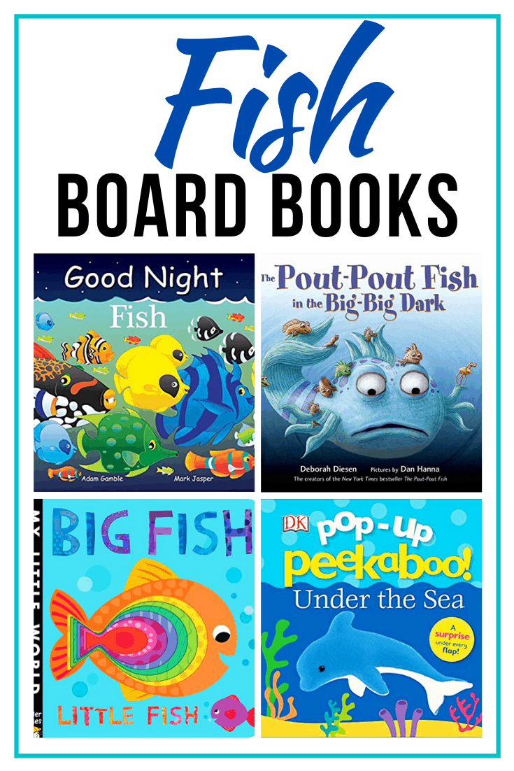 Whether you're getting a pet fish or gearing up for a trip to the beach, little ones will love these fish books for toddlers! Board books for little hands!