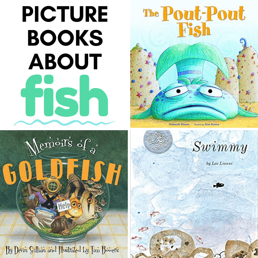 During spring and summer, many teachers add fish, ponds, and ocean themes to their lessons. These fiction fish books for kids work great with them all!