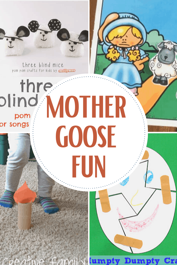 Rhymes are important for language development for babies and toddlers. These Mother Goose activities for toddlers are ideal for little learners.