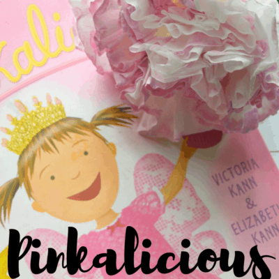 Pinkalicious Coffee Filter Flower Craft