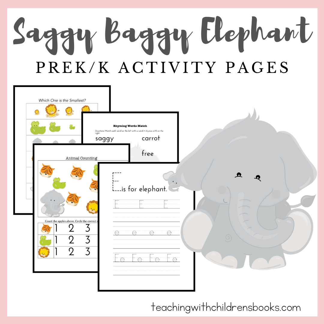 Download and print this fun The Saggy Baggy Elephant activity packto help bring the story to life for kids ages 3-7. Perfect for home and school use!