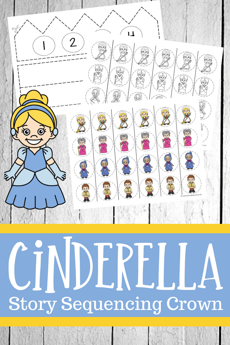 When you have your kids make a Cinderella story sequencing crown, they'll sequence events from the story to make a paper crown to wear.