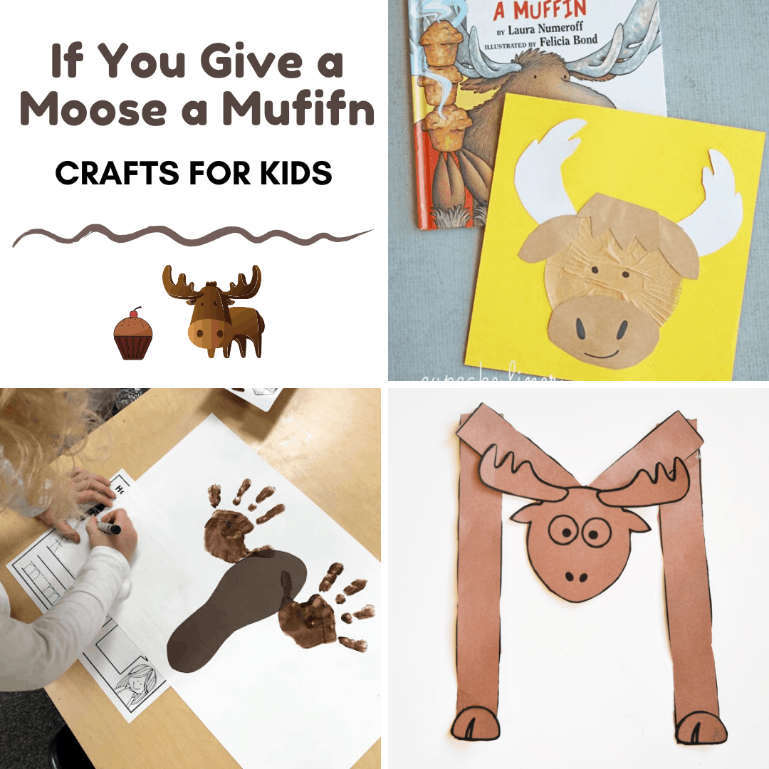 These If You Give a Moose a Muffin crafts for preschool are a great way to bring the story to life! You can also add them to your Letter Mm lessons.