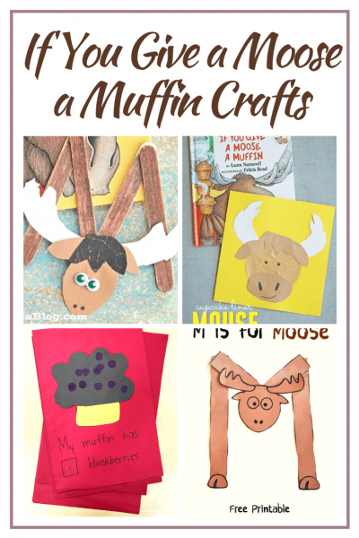 TheseIf You Give a Moose a Muffincrafts for preschool are a great way to bring the story to life! You can also add them to your Letter Mm lessons.
