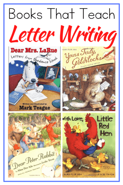 Teach letter writing for kids with this fun collection of picture books that models letter writing in a way that will inspire your students to write one of their own!