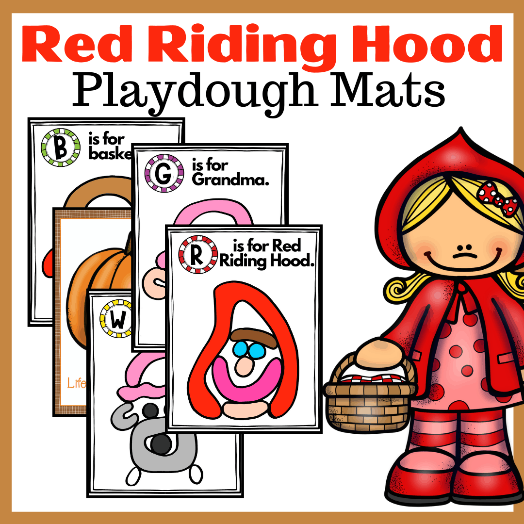 You don't want to miss this Little Red Riding Hood activity for kids! They'll love building story props these fairy tale playdough mats.